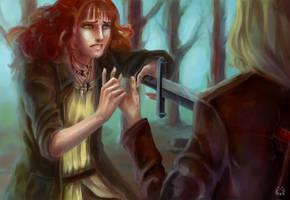 Volkha and Len by Emilyena