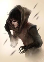 Black raven by Emilyena