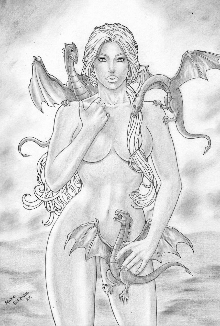 Mother of Dragons Daenerys Targaryen by MarcelloHolanda
