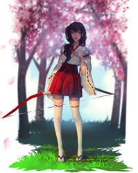 Miko Kagome by cosmogirll