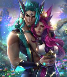 Star Guardian Rakan and Zayah