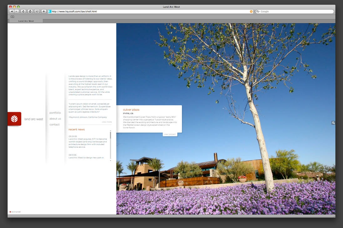 Land Arc West Website by TheRyanFord