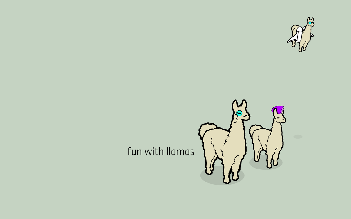 Fun with Llamas by TheRyanFord