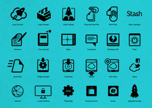 Icons and Symbols for Sta.sh