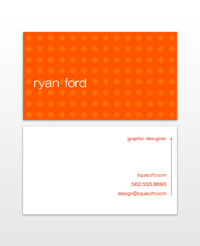 Personal Business Cards-Orange by TheRyanFord on DeviantArt
