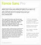 Fonce Sans Pro Preview
