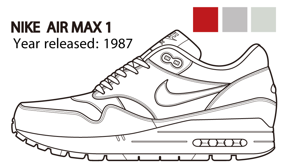 nike air max line drawing
