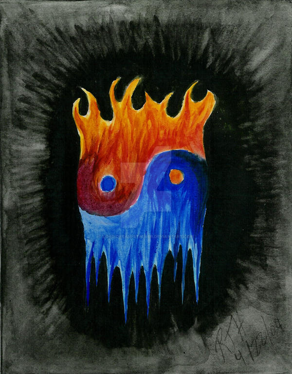 Fire N Ice Yin Yang By Lord Dream Stalker On Deviantart