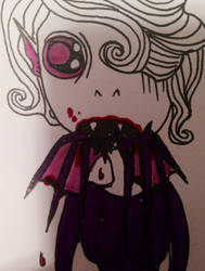 Bat eater by SeranaRose