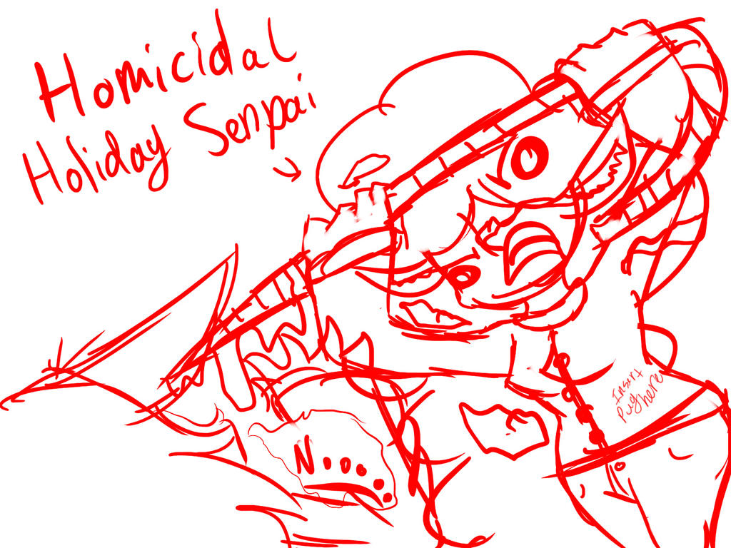 Homicidal Holiday Senpai by MarcelineForever4