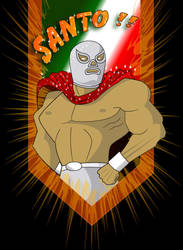 El Santo by zombiecharro