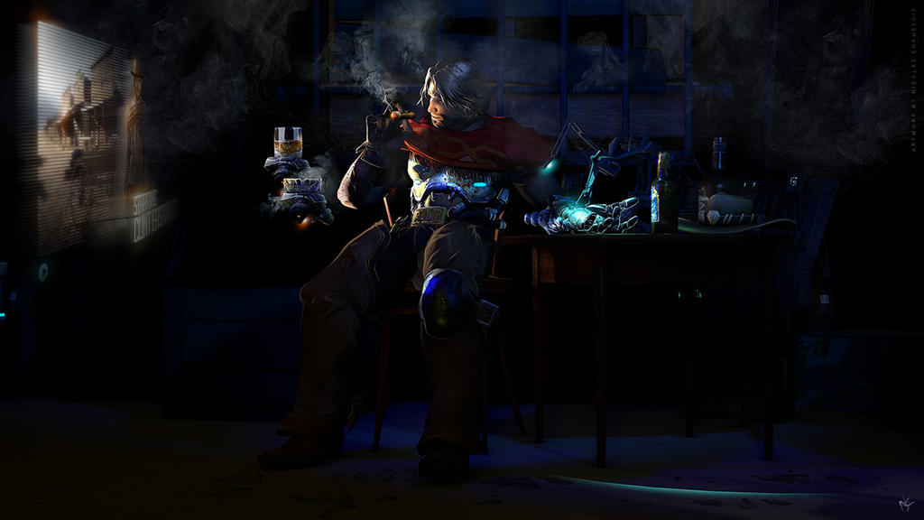 McCree (after the game Overwatch series) by nicopower5000