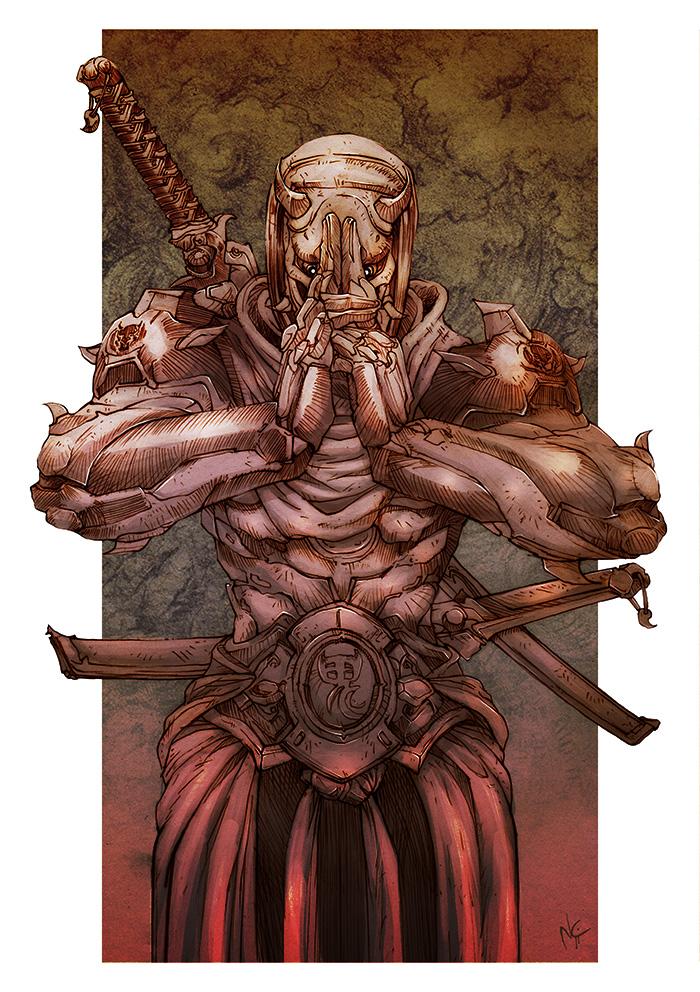 Overwatch Oni Genji by nicopower5000