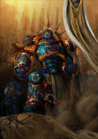 Ultramarine (horus heresy) captain Fanart