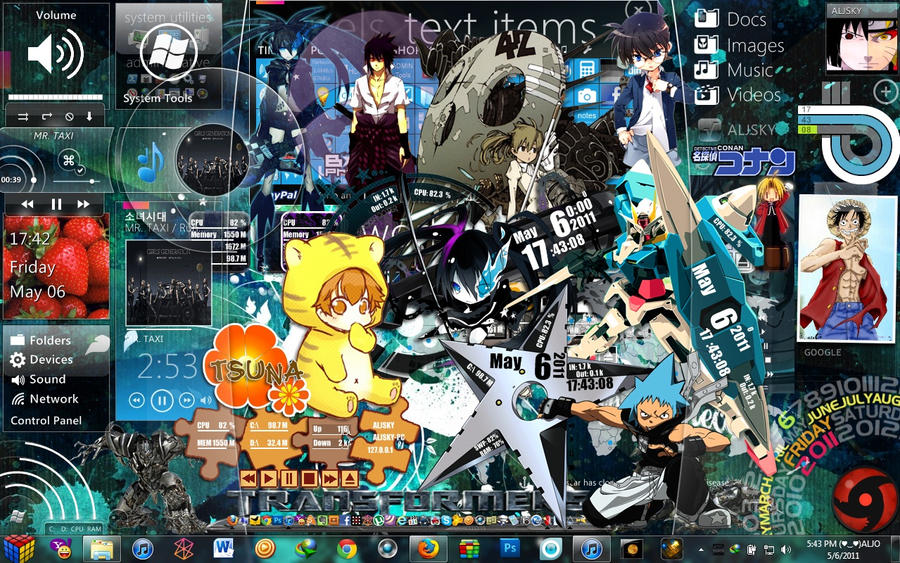 my super anime desktop by aljsky on deviantart