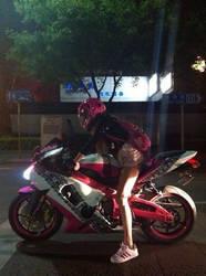 Motor girl  from Nanjing of china