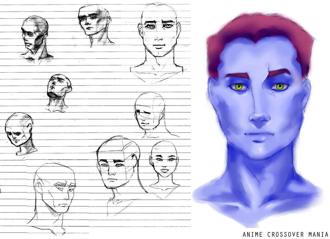 Sketch Study (Male) by AnimeCrossoverMania