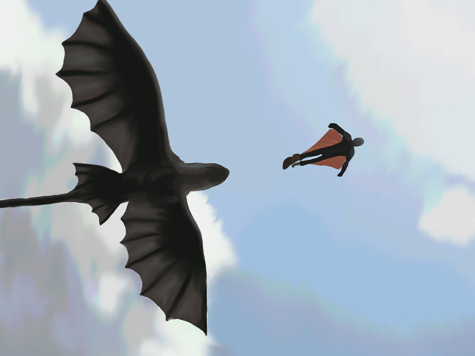 Toothless and Hiccup flying by BlazeOfPhoenix on DeviantArt