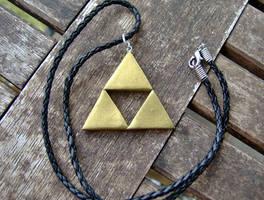 LoZ Triforce Emblem Necklace by shadowsport313