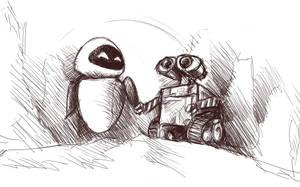 WALL-E Fanart Rough by K-van