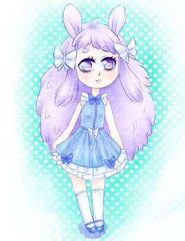 Pastel lavender bunny