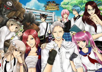 Seven Knights Fanart - Let's Go to School! by sorenka