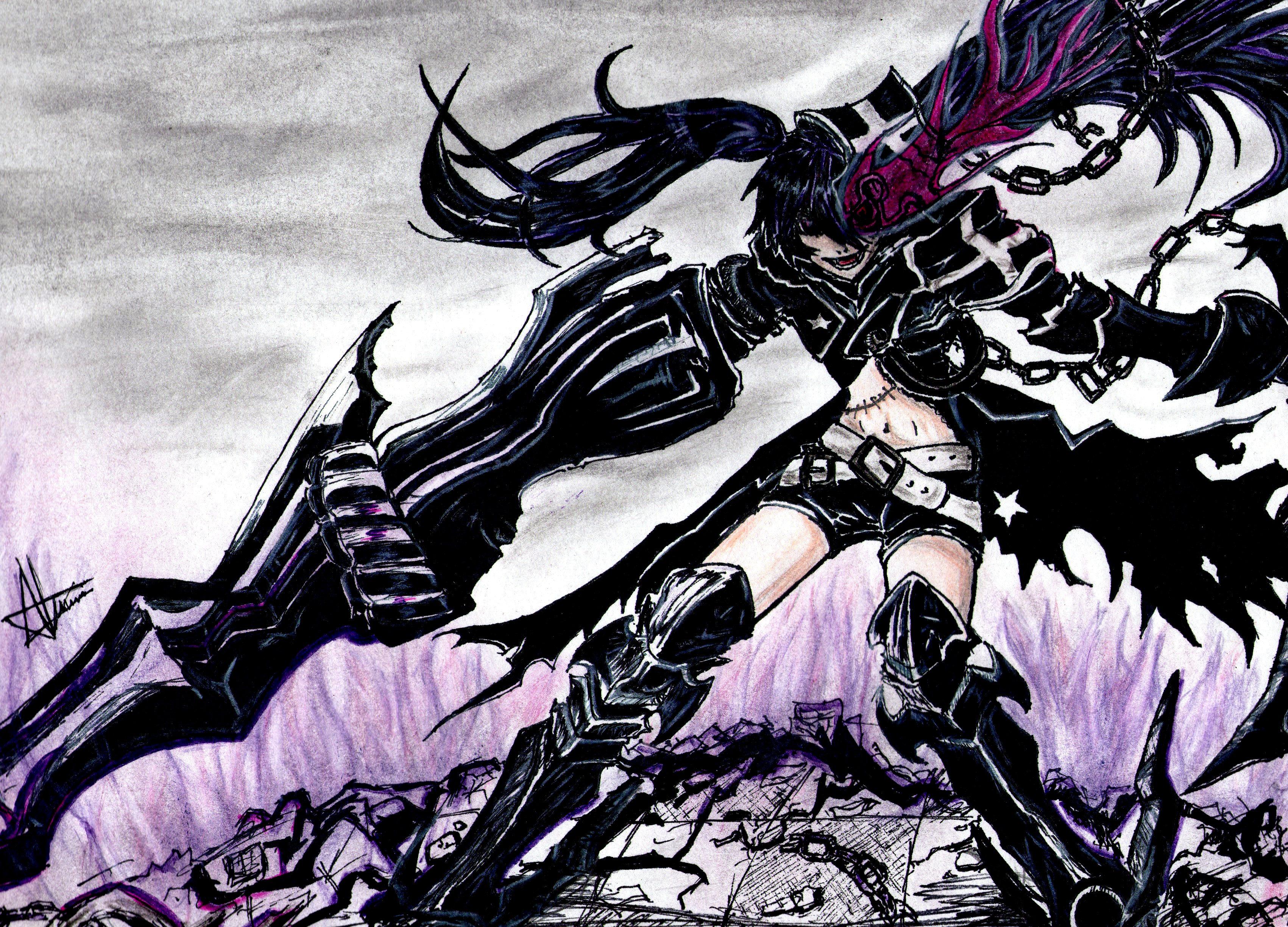 Insane Black Rock Shooter Background