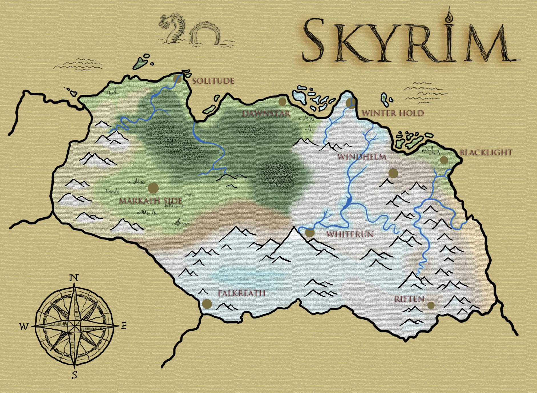 Skyrim fan map 23 by lavanoth on deviantart skyrim fan map 23 by lavanoth sciox Gallery