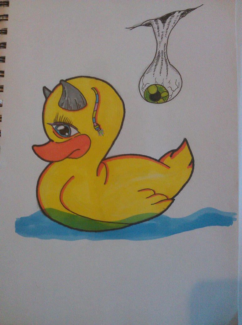 Devil Duck by sharpyyyy on DeviantArt
