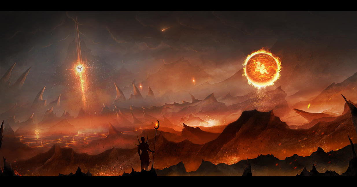 Phoenix awakening by Aeon-Lux