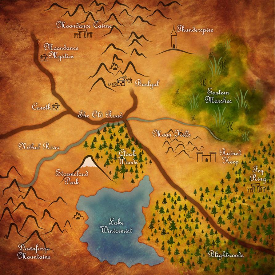 DnD Map by spellbound7