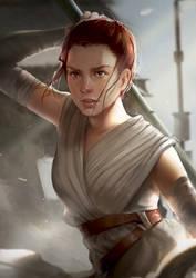 Rey_star wars VII by hannorara