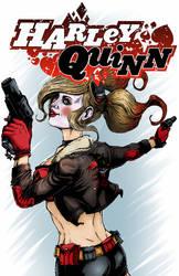 Bombshell Harley Quinn Colored