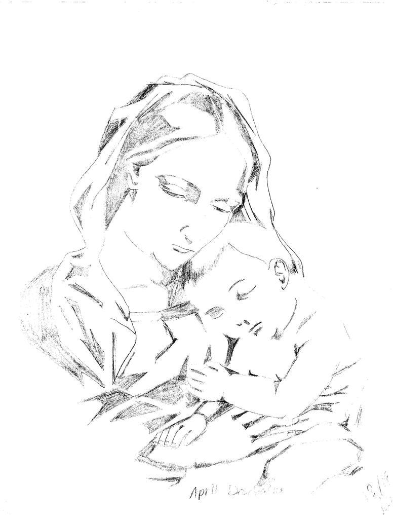 Baby Jesus Drawing - V...