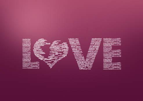 Love Typo by onurkacmaz