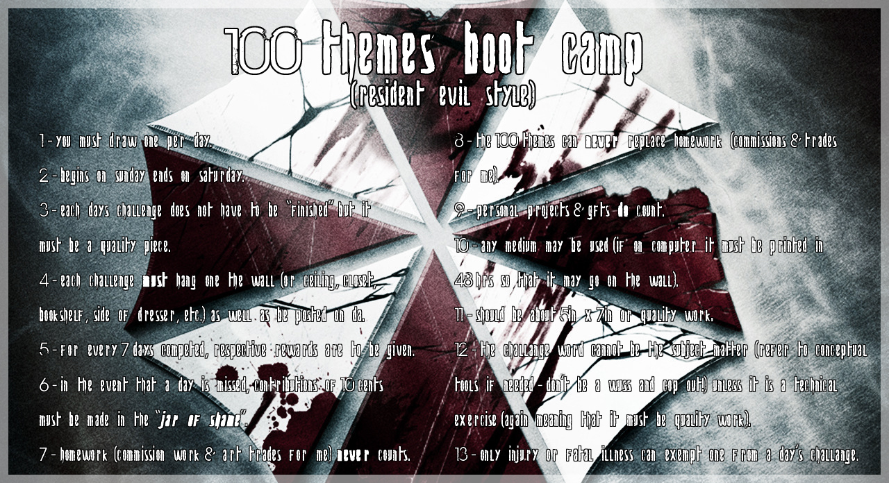 100 Themes Boot Camp by Resident-evil-STARS