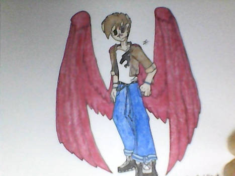 Superhero OC - Jessy Albee aka. Red Hawk
