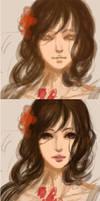 Painting process.