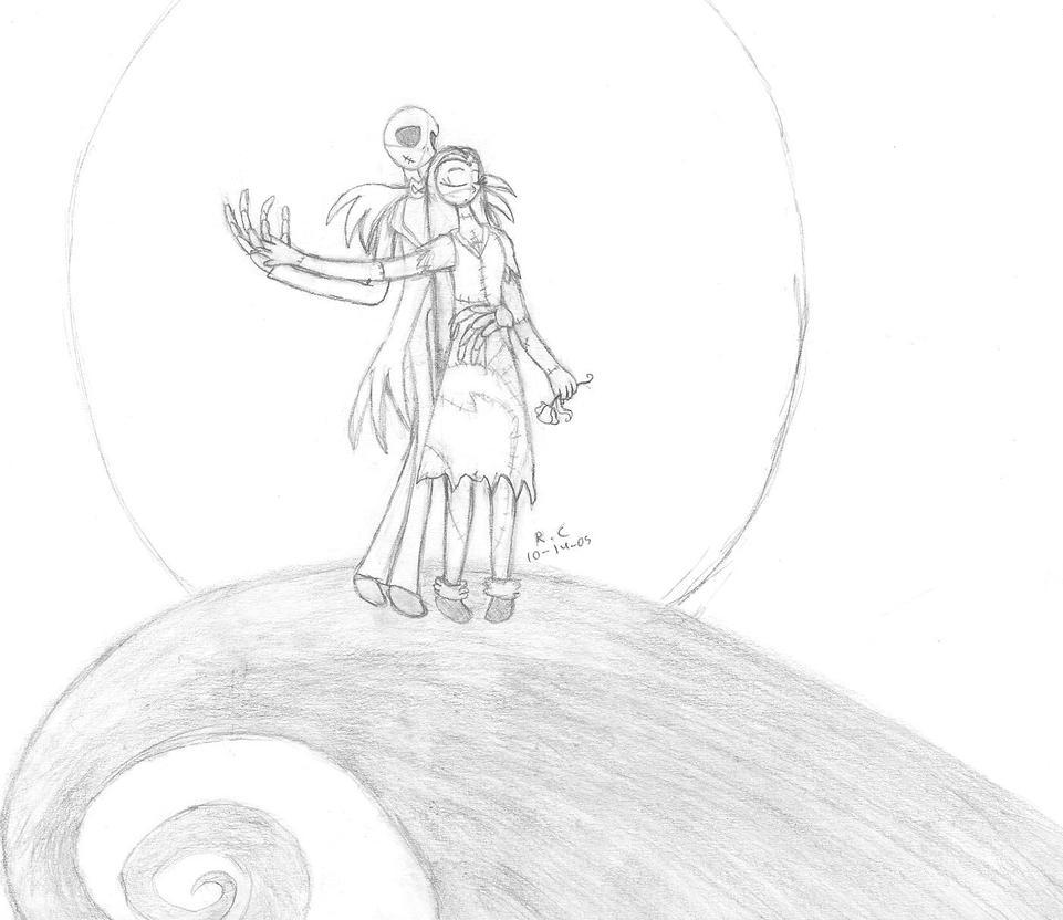 Jack and Sally Sketch by Tikara-the-Mew on DeviantArt