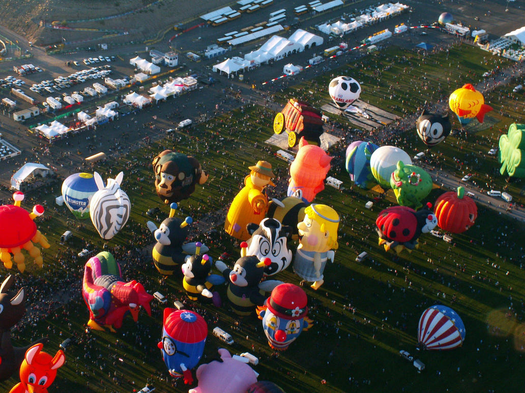 A Rodeo of Balloon Shapes by tmulcahy