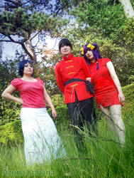 Akane, Ranma and Shampoo