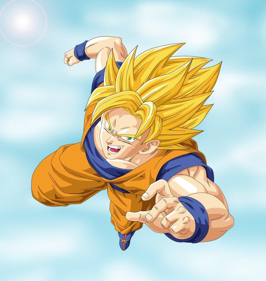 Super Saiyan Goku by miles-spiderman on DeviantArt
