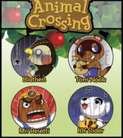 Animal Crossing Badges by kappapillon