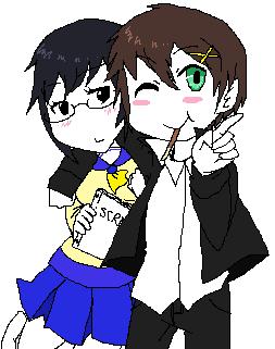 Makoto and Sakurato by SasorisPuppy