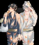 Akaashi Keiji and  Bokuto Koutarou | Render