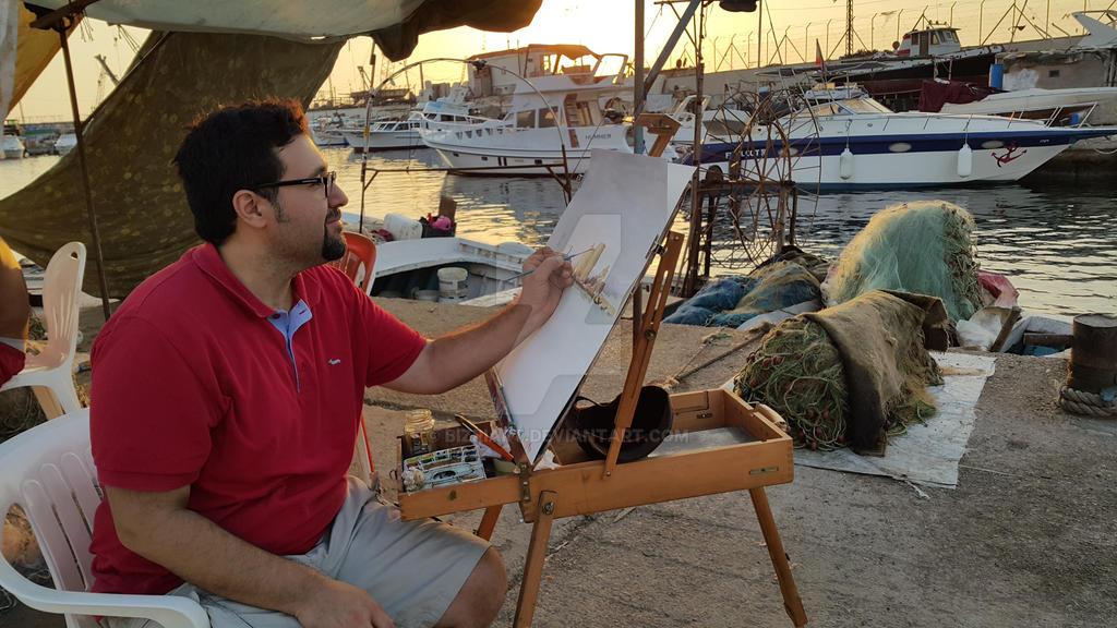 Working ..... by Bizriart
