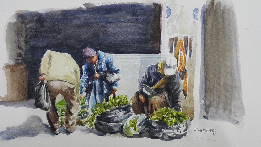 market (souk) by Bizriart