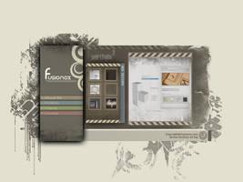 Fusionox Web design portfolio by WorksByRaj