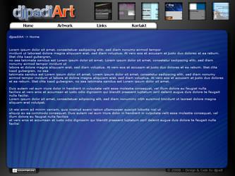 djpadiArt - Blue Webdesign by djpadi