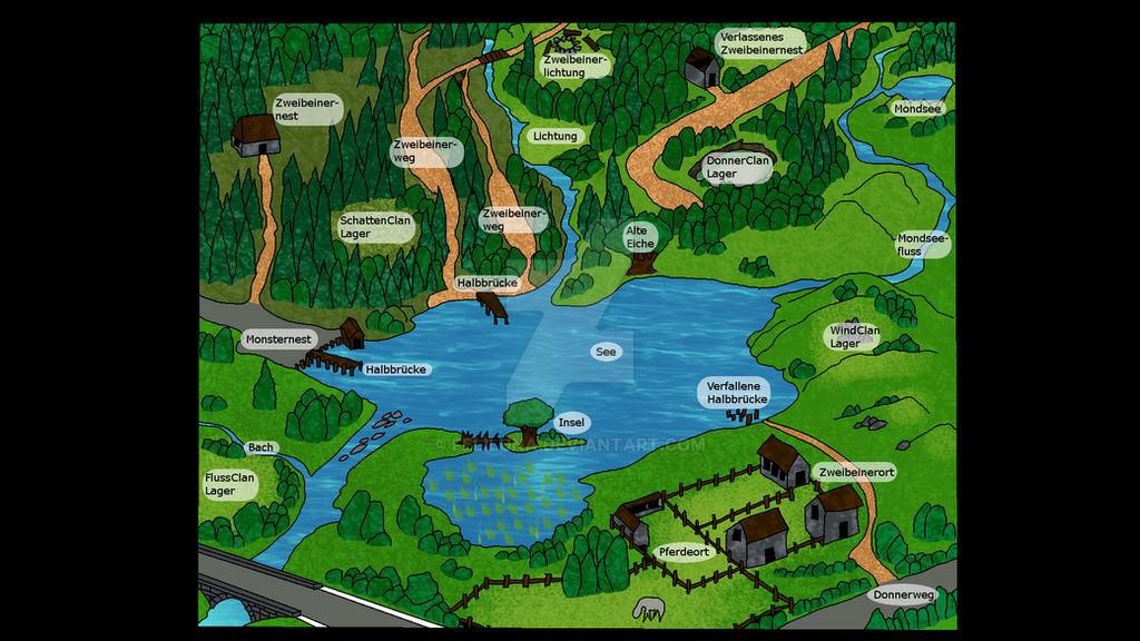 Warrior Cats Karte Des See Territoriums By Feliluna On Deviantart